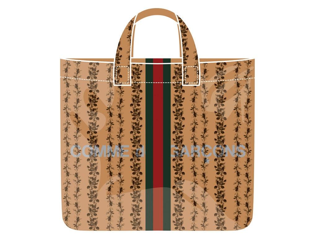 Comme des Garçons X Gucci Limited,Edition Tote \u2013 BAGAHOLICBOY