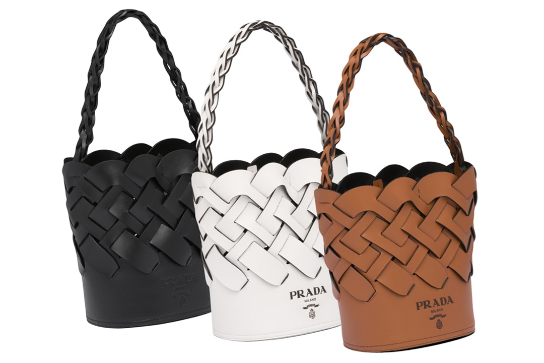 Prada Spring Summer 2020 Woven Leather Bucket Bag Bagaholicboy